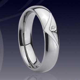 WCR0171 Tungsten Diamond Wedding Rings Tungsten Jewelry Stainless Steel Jewelry Titanium